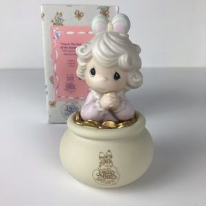 Precious Moments Pot of gold figurine